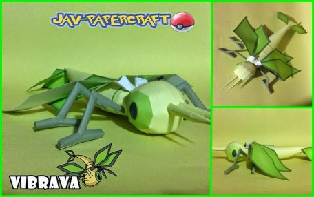 Pokemon Vibrava Papercraft