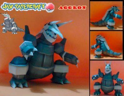 Pokemon Aggron Papercraft