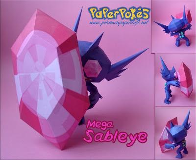Pokemon Mega Sableye Papercraft