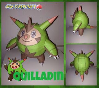 Pokemon Quilladin Papercraft