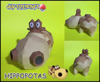 Pokemon Hippopotas Papercraft