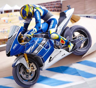 Yamaha-Motorcycle-Racing-Paper-Model