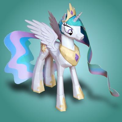 MLP-Princess-Celestia-Papercraft