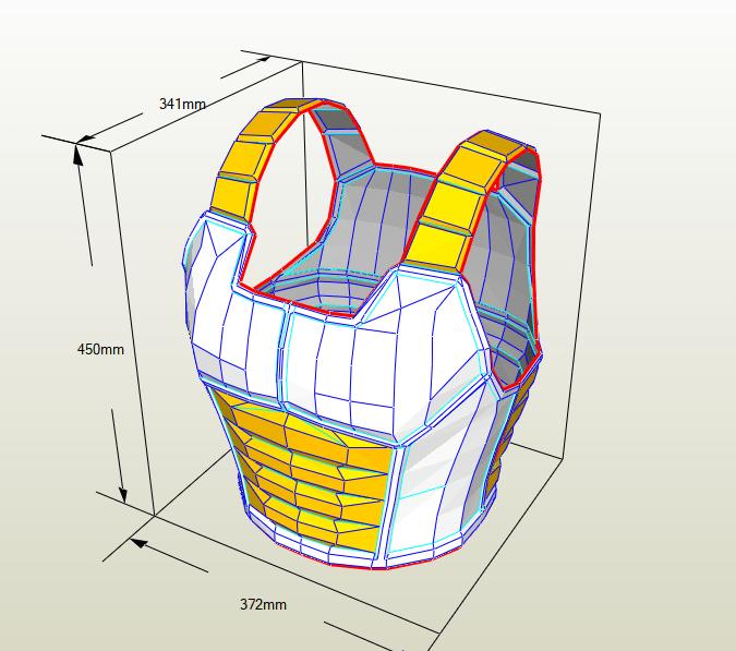 Armadura Saiyajin papercraft