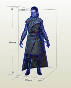 Arya Stark papercraft