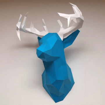 Ciervo pared papercraft