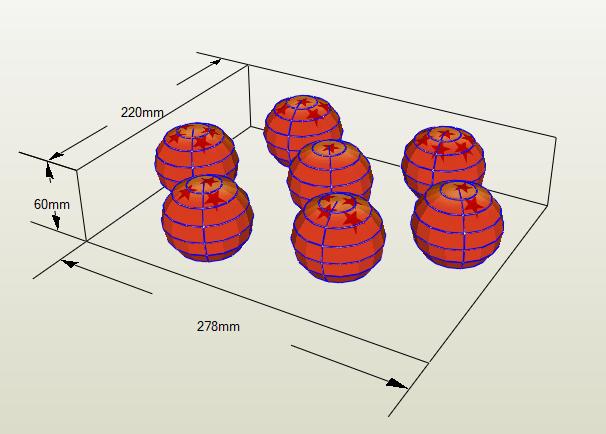 Esferas del dragon papercraft