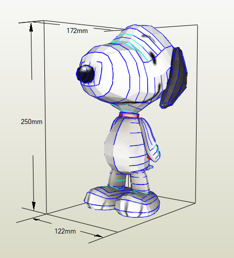Snoopy papercraft