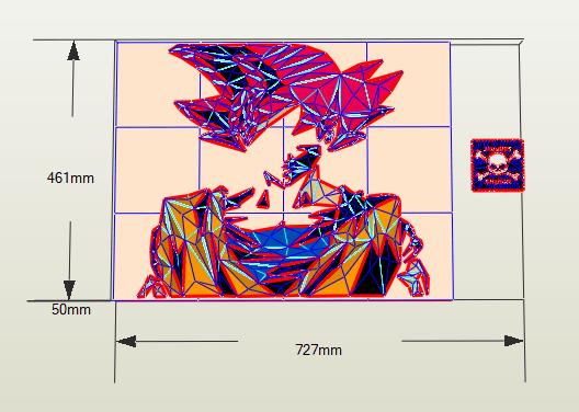 Cuadro Mosaico Goku
