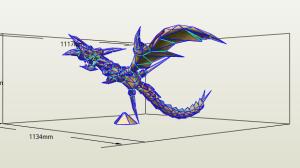 Curse of Dragon papercraft