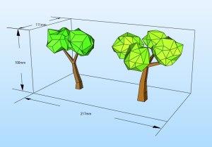 árboles papercraft