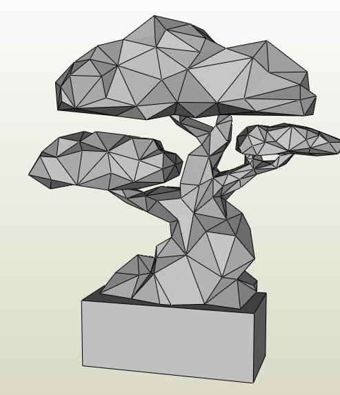Bonsai papercraft