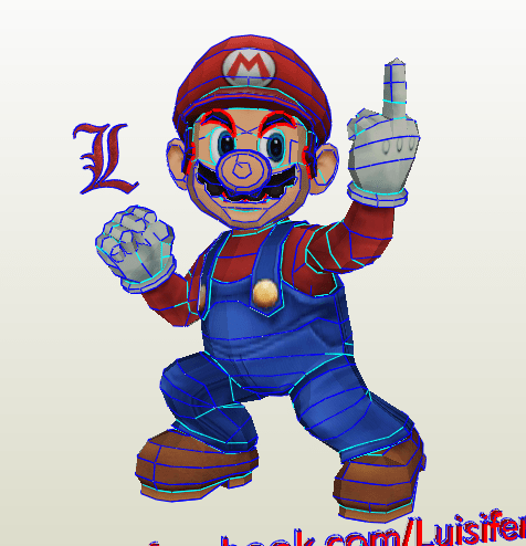 Mario Bros Papercraft