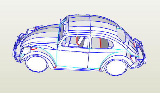 Escarabajo VW papercraft