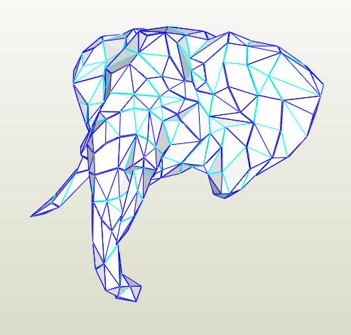 Elefante papercraft