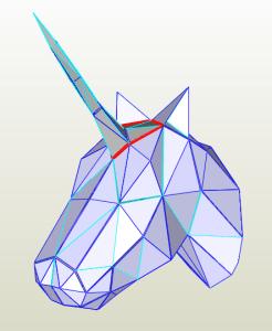 Unicornio Low Poly