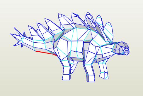 Estegosaurio papercraft