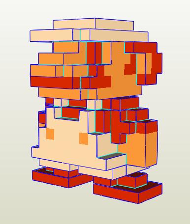 Fire Mario papercraft