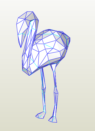 Flamingo papercraft