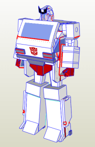 Ratchet papercraft