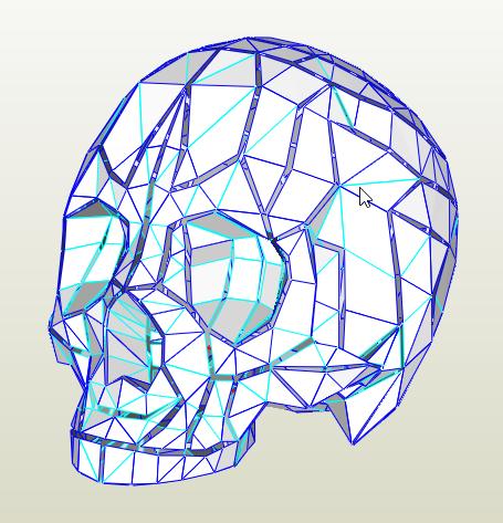 Cráneo papercraft