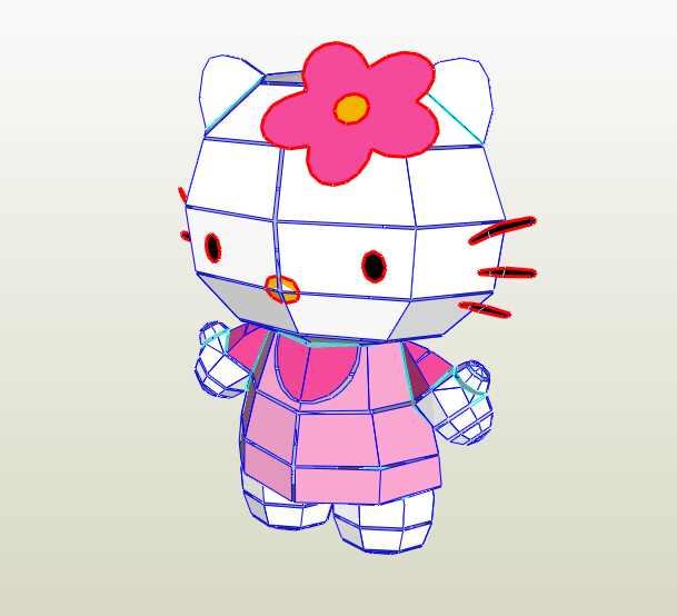 Hello Kitty papercraft