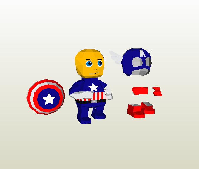 Capitan america papercraft
