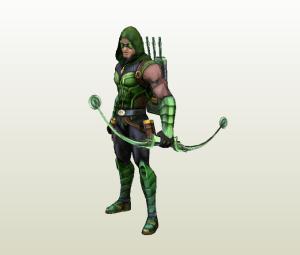Flecha verde papercraft