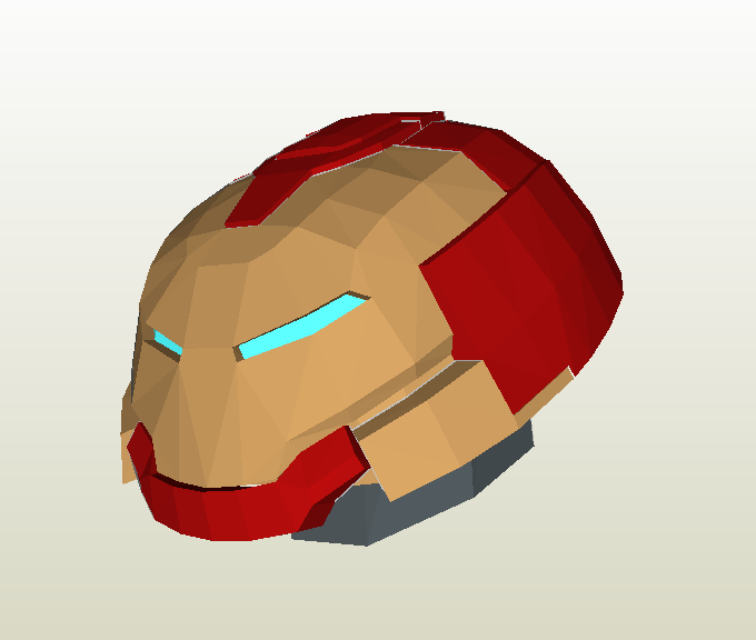 Hulkbuster head papercraft
