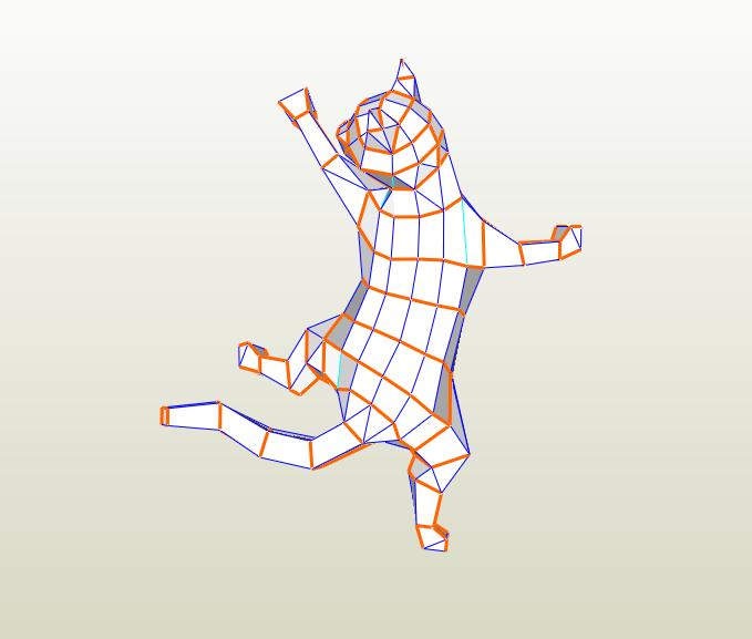 Gato LowPoly papercraft