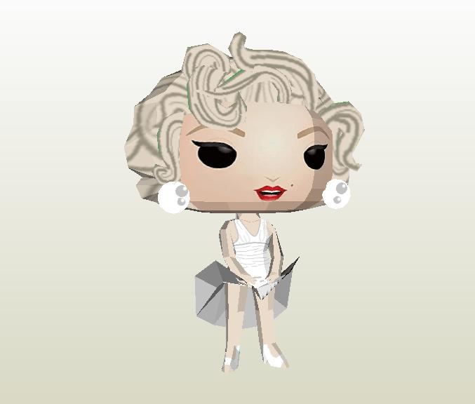 Marilyn Monroe Funko papercraft