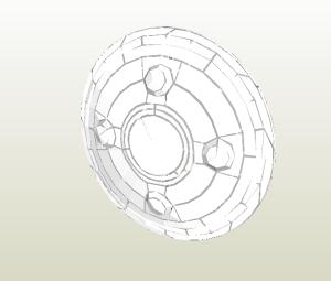 Escudo papercraft