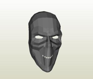 Máscara papercraft