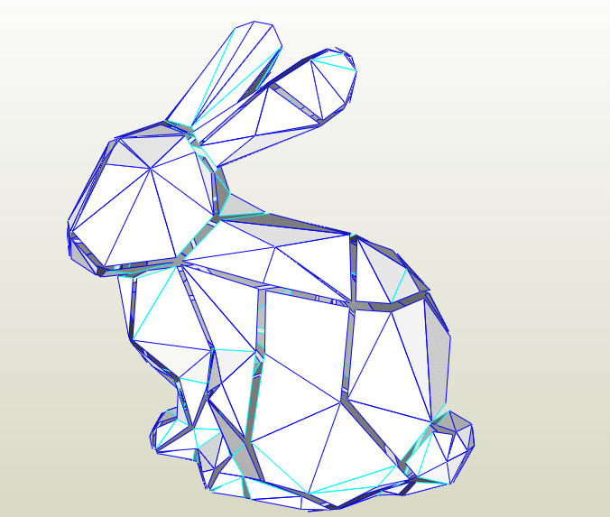 Conejo LowPoly papercraft