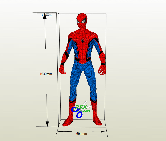 Spider-man papercraft