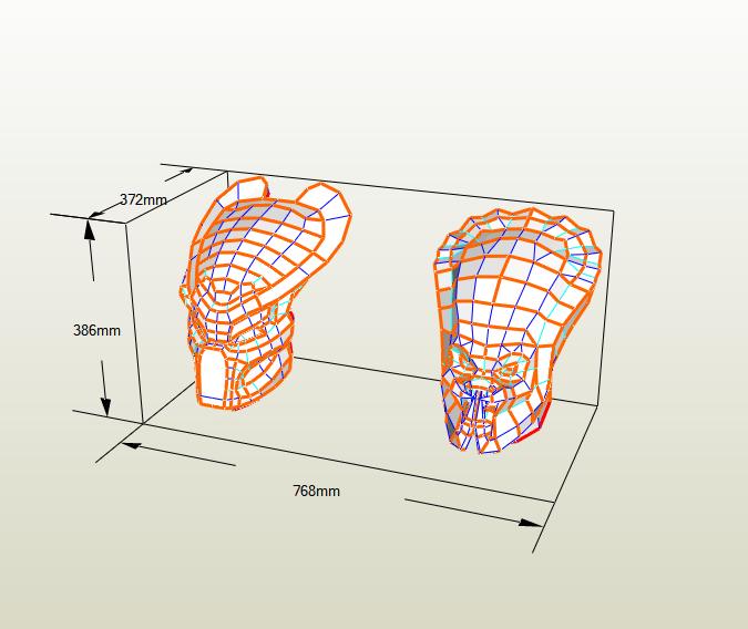 máscara Depredador papercraft