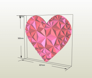 Mosaico Corazón papercraft