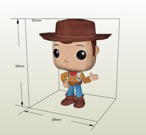 Funko Woody papercraft
