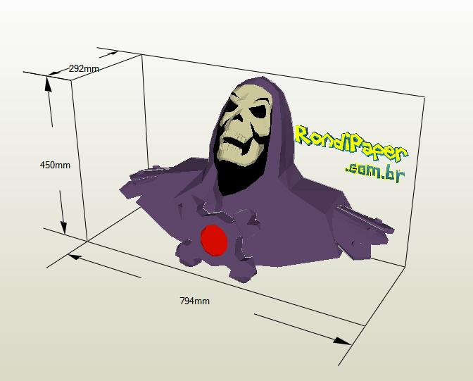 Esqueletor papercraft