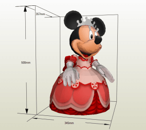 Minnie Mouse papercraft