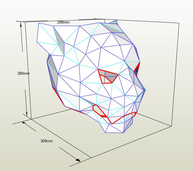 Máscara jaguar papercraft