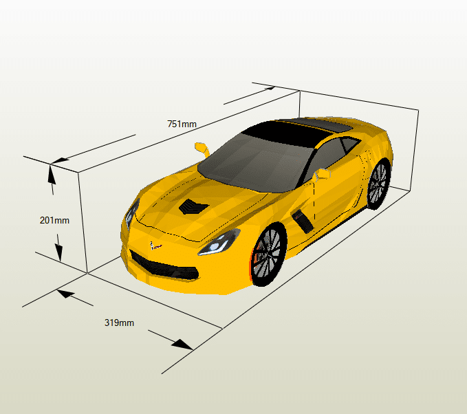 Corvette papercraft