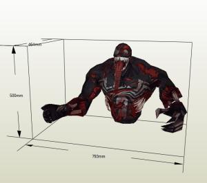 Venom ZOmbie Papercraft