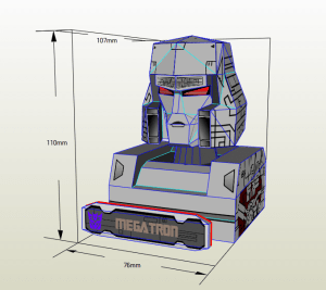 Megatron papercraft