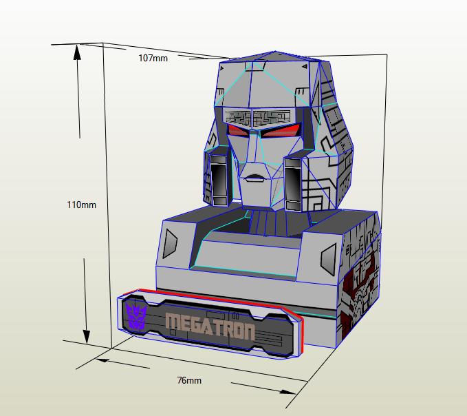 Busto Megatron Papercraft