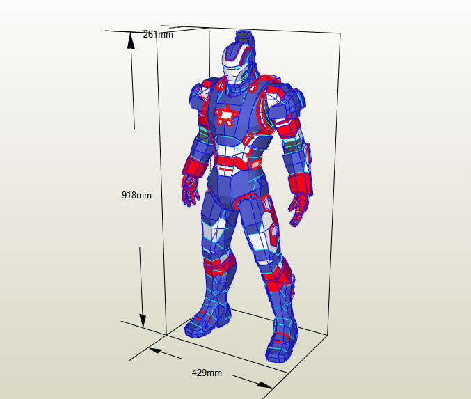 Iron Patriot papercraft
