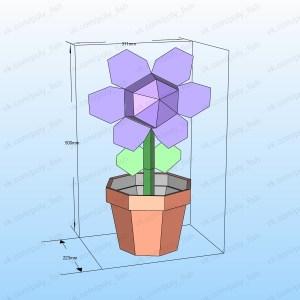 flor en Maceta papercraft