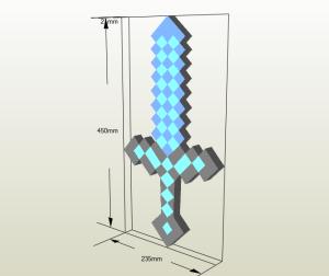 Espada de diamante papercraft