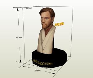 Obi Wan Kenobi papercraft