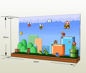 Diorama Mario Bros papercraft